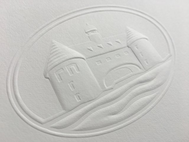 Sculptured blind embossing