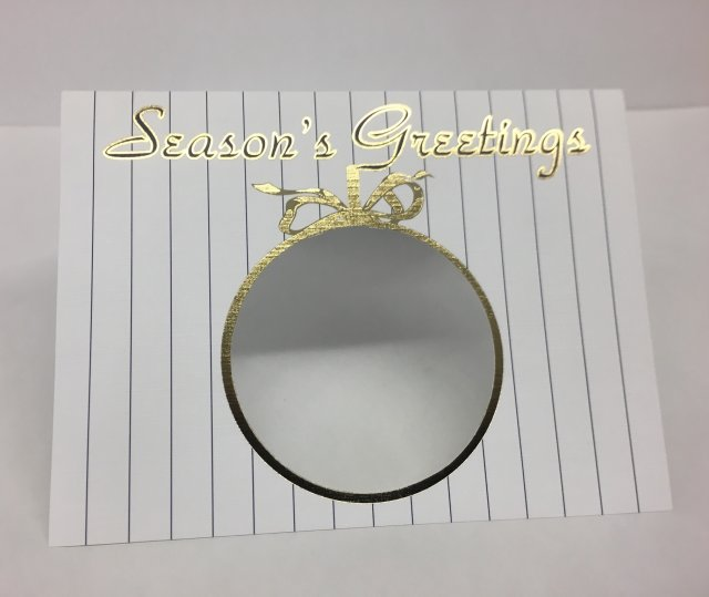Gold stamped and die cut holiday card